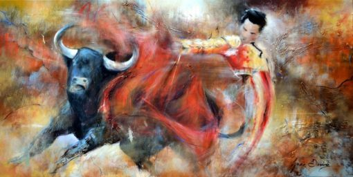 Matador by Lynne Davies. Prints available to buy from The Frame Gallery in Odiham via the online shop. 100 x 50cm £175.00