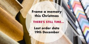 Christmas framing at The Frame Gallery in Odiham.