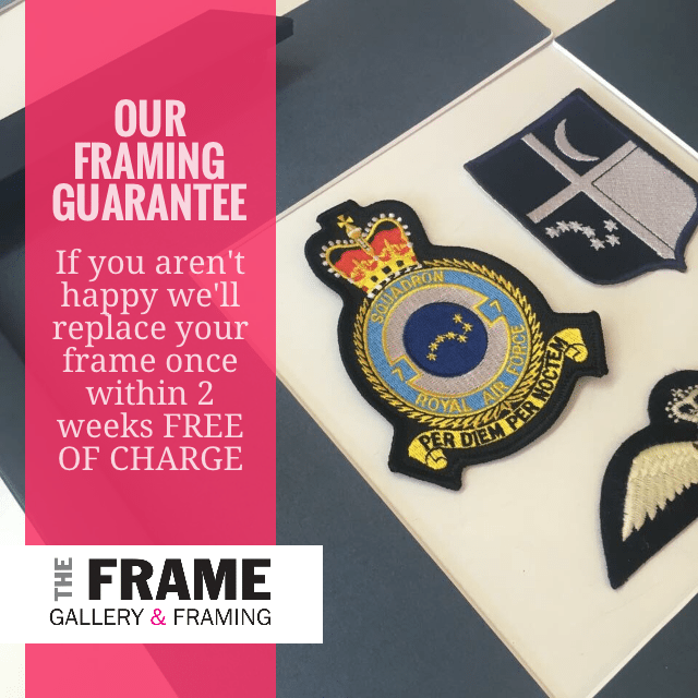 The Frame Gallery offers a number of framing solutions for those important items that you would like preserved & on display. Want to know more please call.
