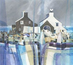Gillian McDonald is one of the top-selling print artists of her generation. Fishermans Cottage II now on sale in The Frame Odiham.
