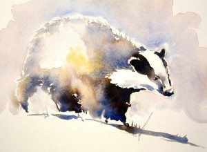 Badger, Julia Cassels, available at The Frame Odiham.