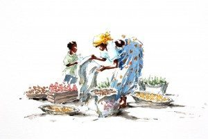 Julia Cassels, Mfuwe Market, available at The Frame, Odiham.