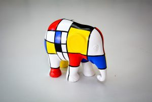 Winner of our Elephant Parade Colouring Competition at The Frame Gallery Odiham.