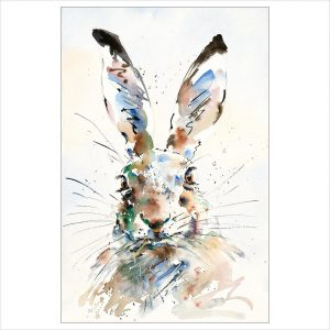 Hare Brained by Jake Winkle available at The Frame Gallery in Odiham.