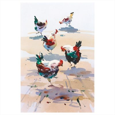 'Pecking Order' - Jake Winkle available at The Frame Gallery in Odiham.