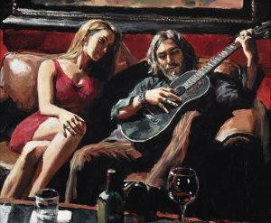 Fabian Perez at The Frame Gallery in Odiham.