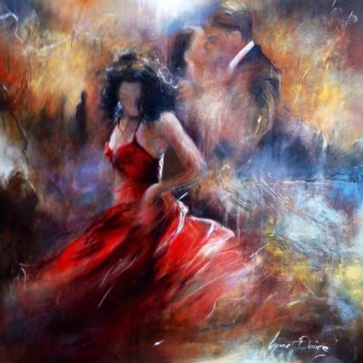 Dancing Alone by Lynne Davies. Prints available to buy from The Frame Gallery in Odiham via the online shop.