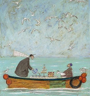 Sea Time Tea Time by Sam Toft available at the frame gallery in Odiham.