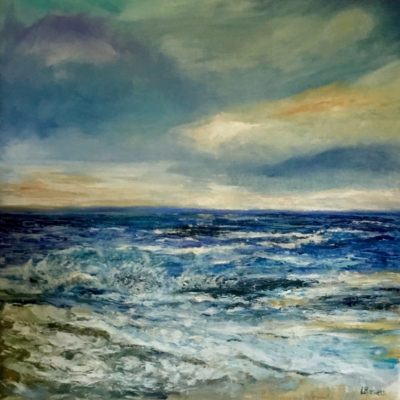 """Tide"" Oil on Canvas 76cm x 76cm unframed £595. Available at The Frame Gallery in Odiham."