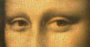 Mona Lisa Crackling (Image courtesy of The National Portrait GAllery. Blog by The Frame Gallery in Odiham.